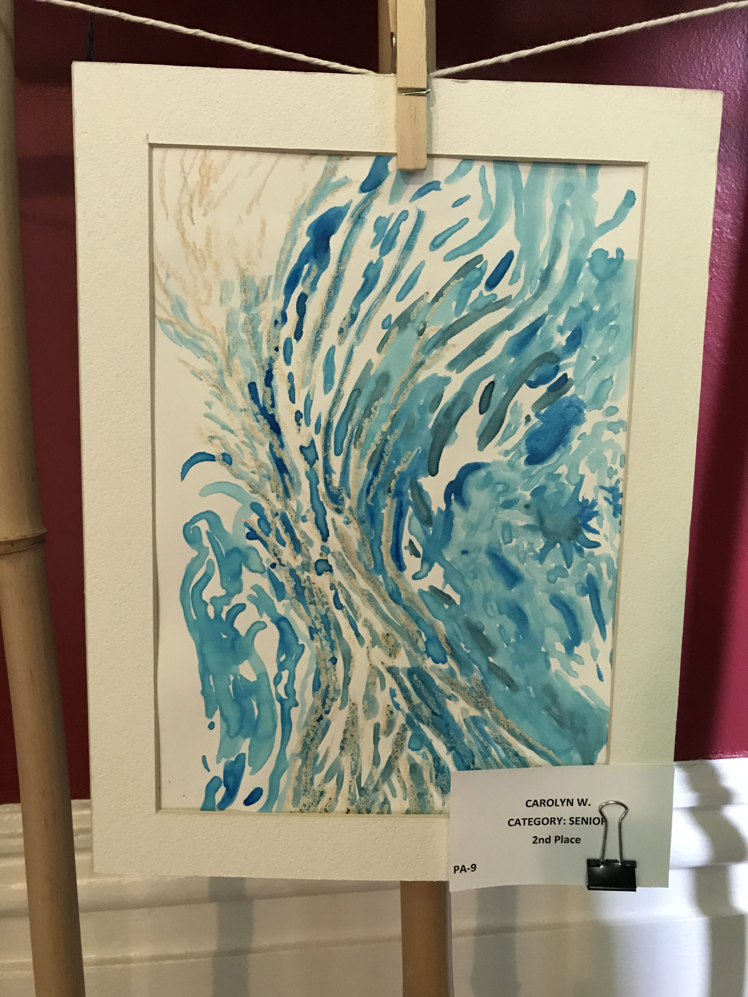 Blue and Silver Watercolor from Creve Coeur Arbor Day Art Contest