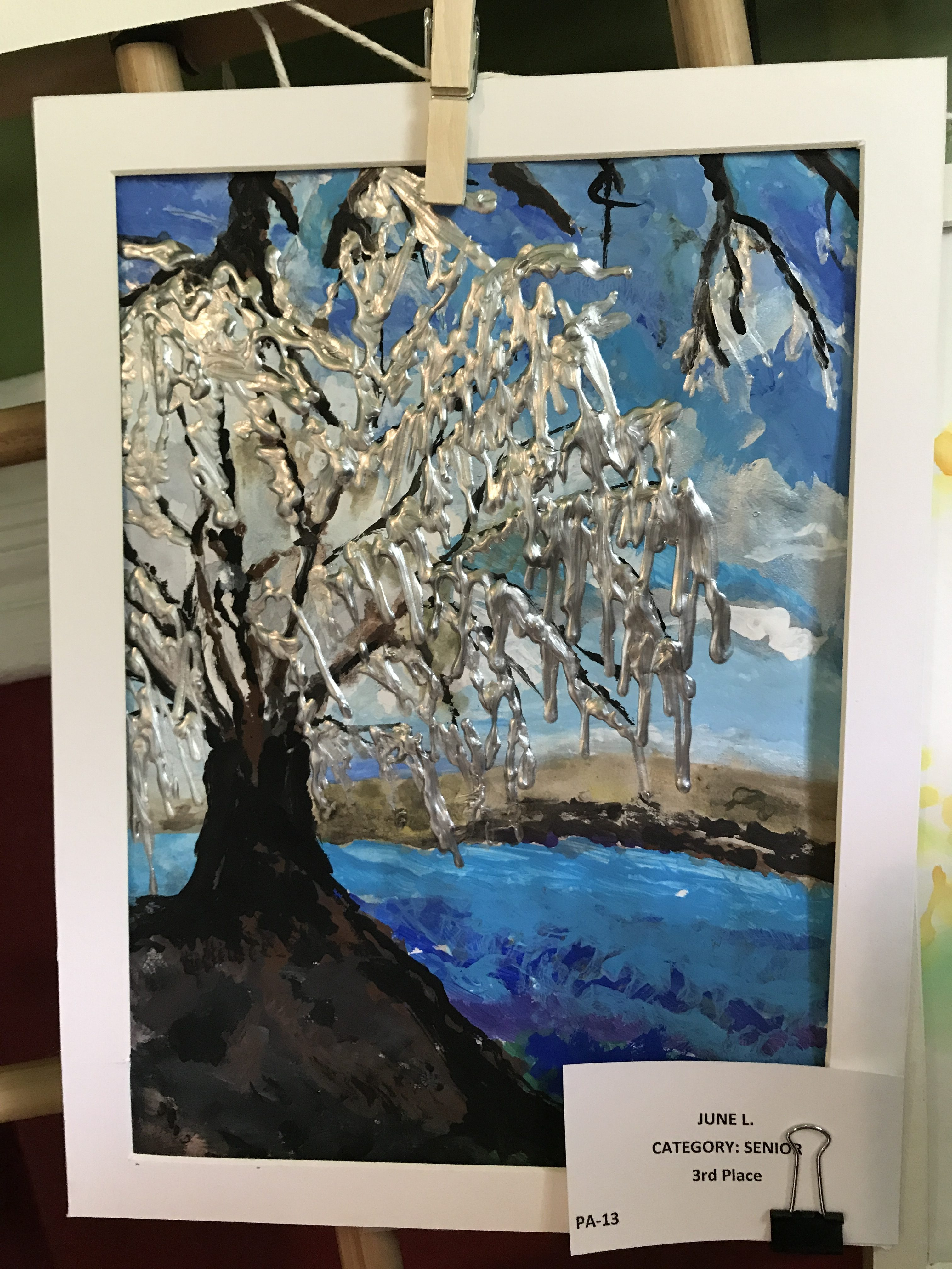 Silver Willow Tree Painting Arbor Day Art Contest