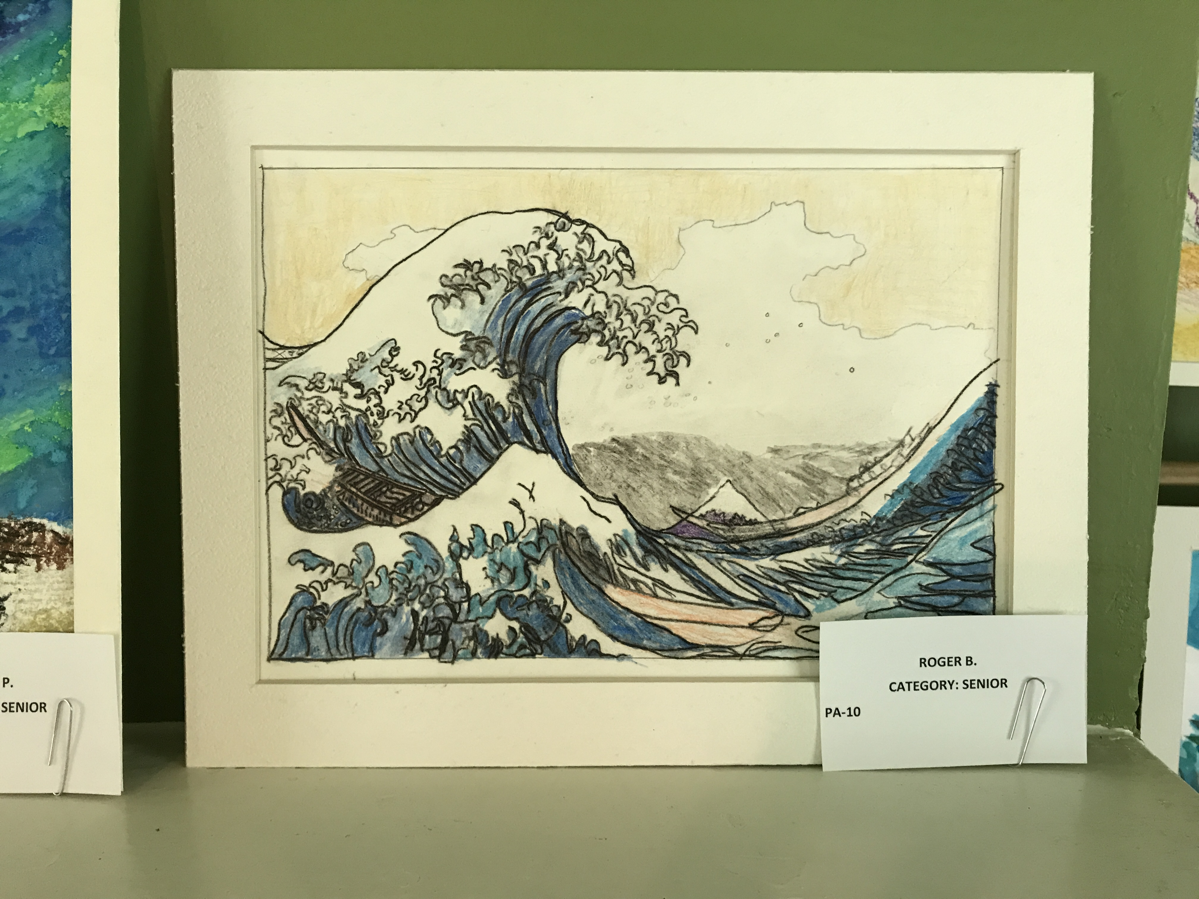 Wave drawing by Roger
