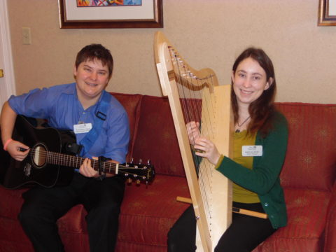 Music Therapists play for residents at Parc Provence