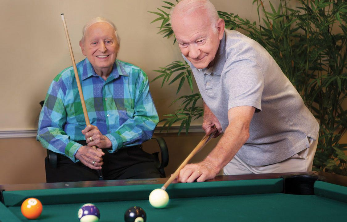 Parc Provence Memory Care Activities Billiards