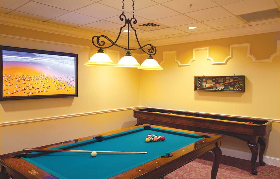Parc Provence Memory Care Skilled Nursing Community Billiards