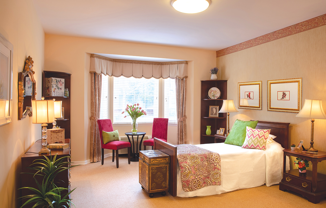 Parc Provence Memory Care Skilled Nursing Community Bedroom