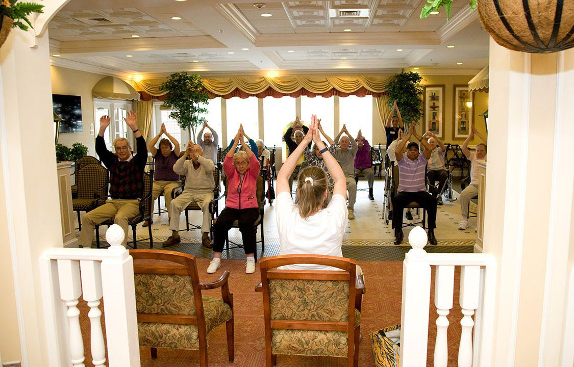 Parc Provence Memory Care Activities Exercise Class