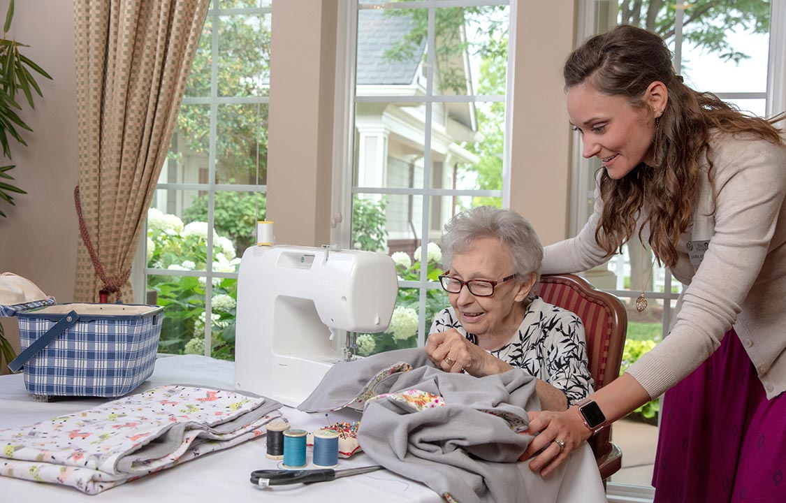 Parc Provence Memory Care Activities Sewing