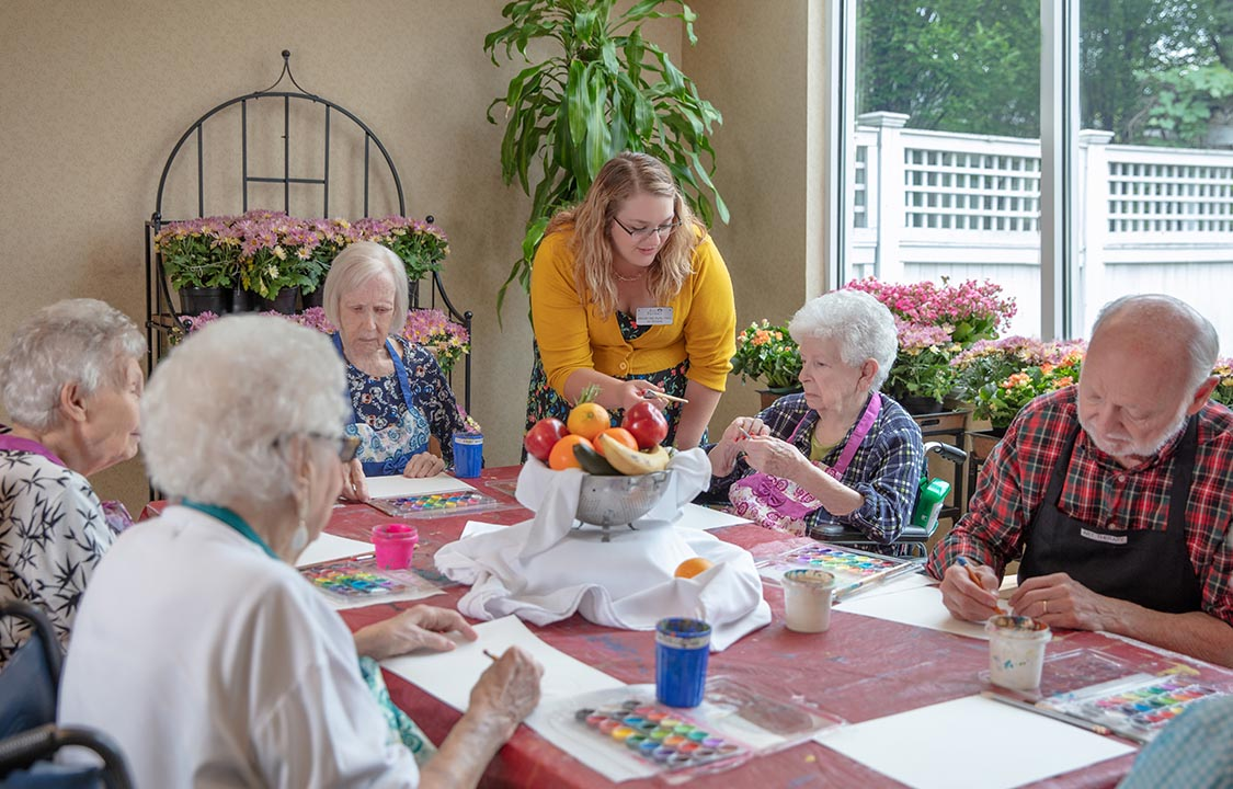 Parc Provence Memory Care Activities Art Therapy