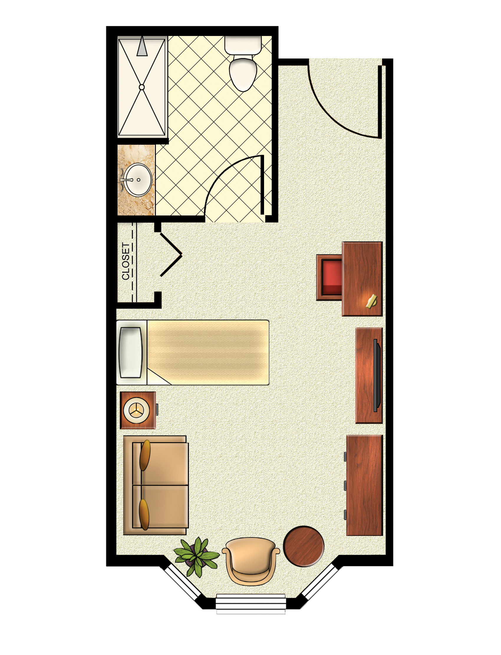 Large Private Floorplan