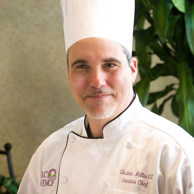 Portrait of Christian Miller, Executive Chef